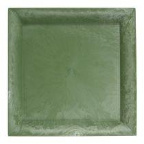 Kunststof bord groen vierkant 26cm x 26cm
