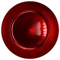 Kunststof bord rood Ø17cm 10 st
