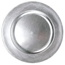 Kunststof schaal zilver Ø17cm 10st
