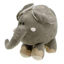 Pluche olifant 35cm grijs