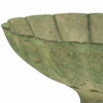 Kopjes schaal antiek groen Ø13cm H11,5cm