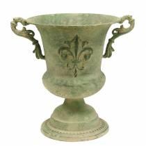 Kopjes schaal antiek groen Ø20cm H24cm
