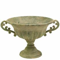 Kopschaal antiek groen Ø26cm H20,5cm
