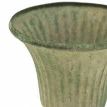 Beker Kelk Antiek Groen Ø9cm H10cm