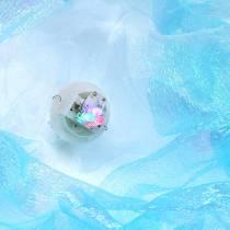 Decoratieve kwallen om glinsterend blauw op te hangen met LED-licht Ø26 H65cm