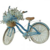 Deco bord hout fiets zomer deco bord blauw, wit 31 × 25cm