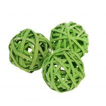 Rotanbal lente groen Ø4cm 12st
