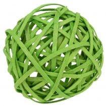Rotan bal lichtgroen Ø6cm 6st