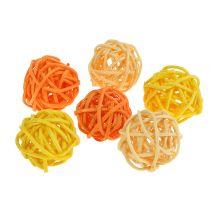Rotan bal oranje geel abrikoos 72st