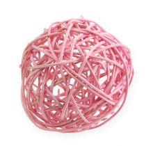 Rotan bal Ø10cm roze 10st