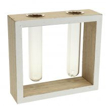 Reageerbuisjes in een houten frame 13 cm x 12 cm 2 stks