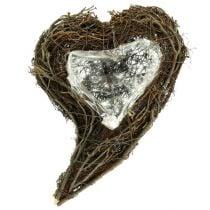 Wijnstokplant hart natuur 15cm x23cm x5cm 4st