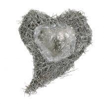 Wijnstok hart gewassen wit 16cm x 21cm 1p