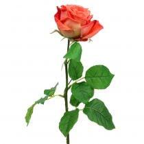 Rose kunstbloem zalm 67.5cm