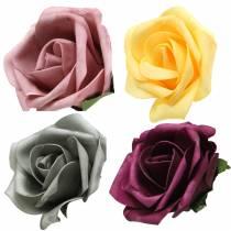 Foam Rose Ø15cm verschillende kleuren 4st