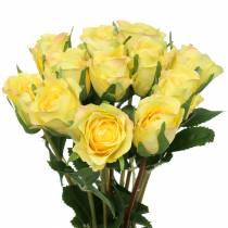 Rose geel 42cm 12st
