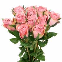 Roos oud roos 42cm 12st