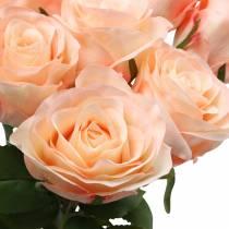 Kunst rozenboeket abrikoos 8st