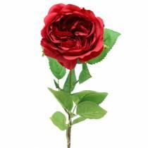 Rose kunstbloem rood 72cm