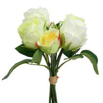 Bos rozen witgroen Ø15cm L25cm