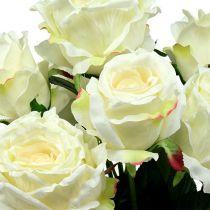 Rozenboeket wit, creme 55cm