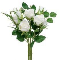 Boeket witte rozen L46cm