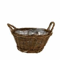 Ronde mand gemaakt van wilgentakken Paasmand bruin Ø19cm