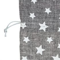 Tas met sterren Ø23cm H35cm grijs