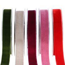 Fluwelen lint verschillende kleuren 20 mm 10 m