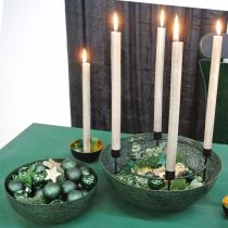 Sierschaal metaal groen tafeldecoratie Vintage Ø21cm