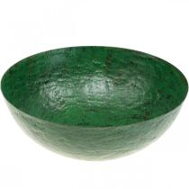 Sierschaal vintage groen metalen plantenbak Ø31cm