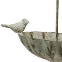 Vogelbadparaplu om antiek op te hangen 20cm