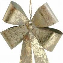 Lussen van metaal, kersthanger, adventsdecoratie gouden, antieke look H18cm B12.5cm 2st