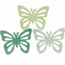 Strooi decoratie vlinders, lente, houten vlinders, tafeldecoratie om te strooien 72st