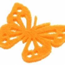 Vilten vlindertafeldecoratie Assorti 3,5 x 4,5 cm 54 stuks Verschillende kleuren