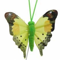 Decoratieve vlinder met draad assorti 5cm 24st