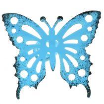 Bloem vlinder kleurrijk 22cm 12st