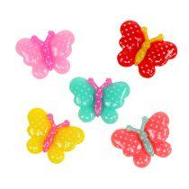 Vlinders mini 2cm gekleurd 24st