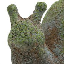 Tuinfiguur slak bemost 31cm x 17cm H17cm