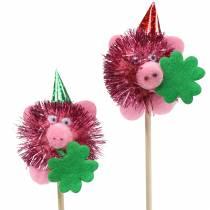 Decoratieplug Lucky Pig 8st