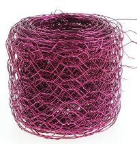 Zeshoekige vlecht roze 50mm 5m