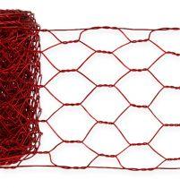Zeshoekige vlecht 50 mm 5 m rood