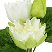 Kunstmatige waterlelies wit 35cm