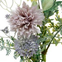 Zijden bloemen in bos, zomerse decoraties, chrysanten en boldistels, kunstbloemen L50cm