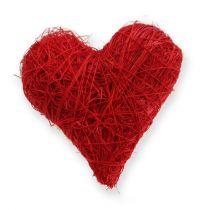Sisal harten 5-6 cm rood 24st