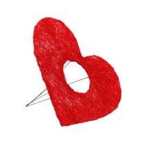 Sisal hartmanchet rood 15cm 10st.