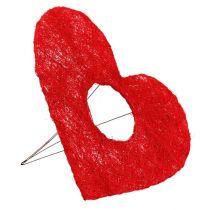 Sisal hartmanchet 25cm rood 10st