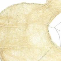 Sisal sleeve hart gebleekt 16cm 10st
