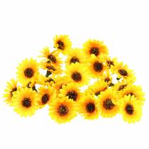 Verspreide decoratie zonnebloemkoppen geel Ø3.3cm 100st