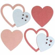 Verspreide harten roze / wit 24st